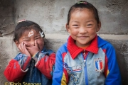 Tibetaanse kinderen, China - Tibetan sisters, China