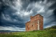 Kasteel bij Portencross - Portencross castle