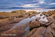Rotskust bij Portencross - Rocky coast at Portencross