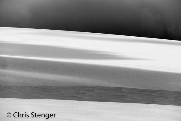 Deze foto werd omgezet naar zwart-wit om de contrasten beter tot z'n recht te laten komen.