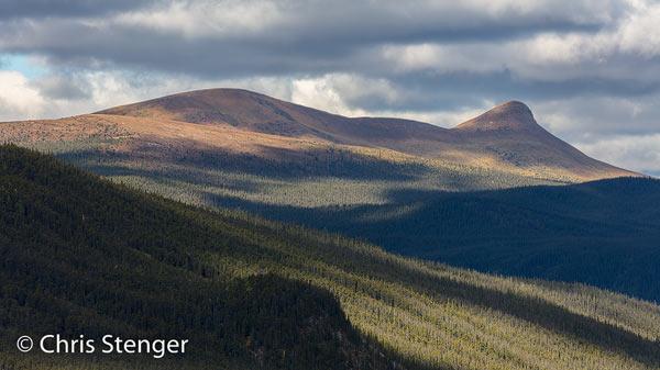 In het noorden van British Columbia bereikt de Alcan het hoogste punt, ruim 1200 meter