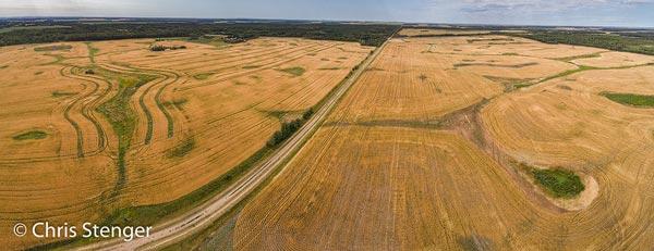 De zomer is voorbij, het graan is geoogst en de graanvelden hebben hun herfstkleuren gekregen