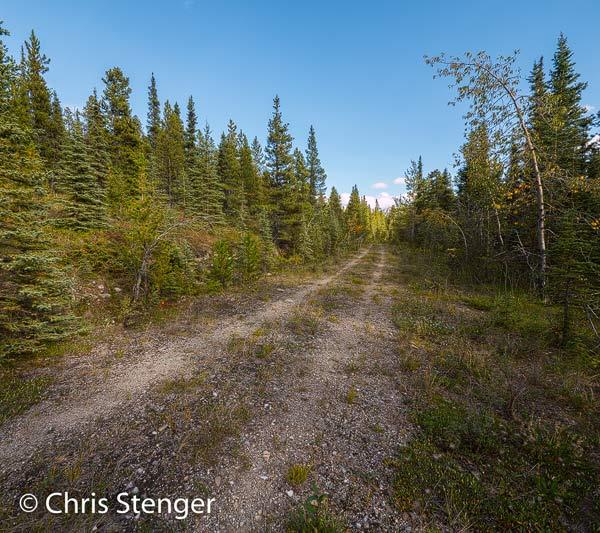 Dit wegdeel ligt in het Stone Mountain Provincial Park en wordt tegenwoordig als wandelpad gebruikt