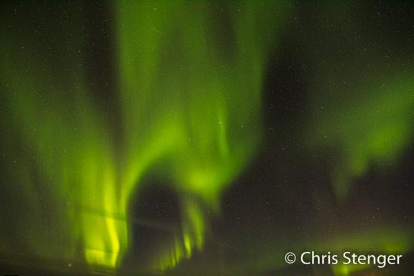 De intensiteit is nu heel sterk en ik maakte deze foto met een belichting van 15 seconden bij f/4,0 en ISO 1250