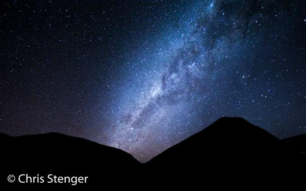 De extreem heldere nachten op de Altiplano geven goede mogelijkheden om de Melkweg te fotograferen