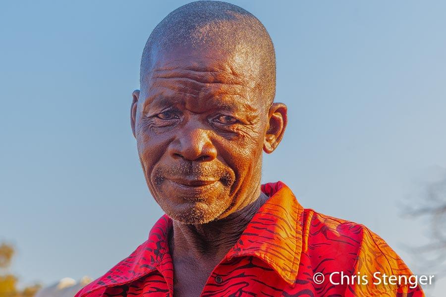 Ik fotografeerde dit portret in een klein dorpje in de Caprivistrip