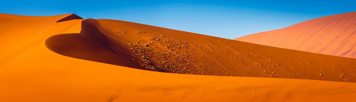 Chris Stenger Landschapsfotografie: landschappen in het zuiden van Afrika zijn heel divers, zoals hier de beroemde zandduinen in de Namib woestijn in het westen van Namibië