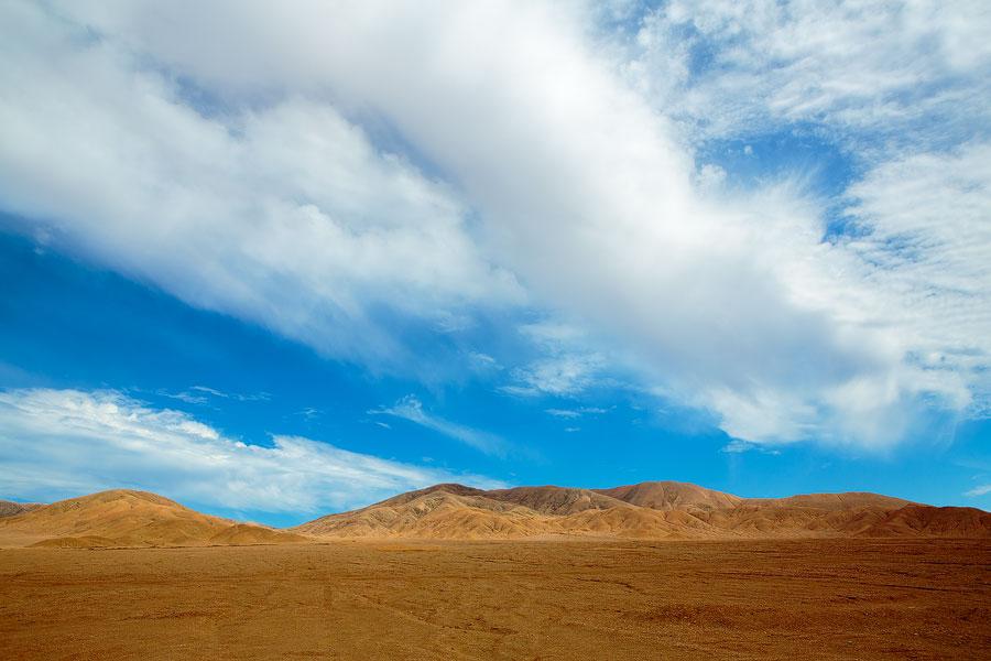 Cloudscapes in de Atacama zijn een zeldzaamheid